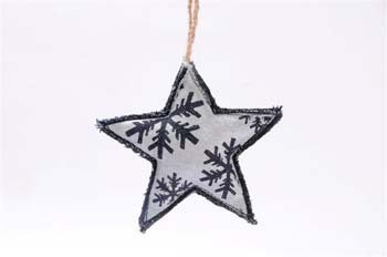 Christmas tree ornaments denim