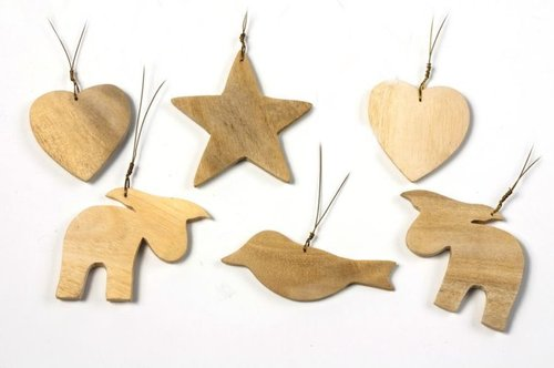 Christmas tree ornaments Gmelini wood