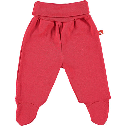 Baby trousers organic cotton red size 62