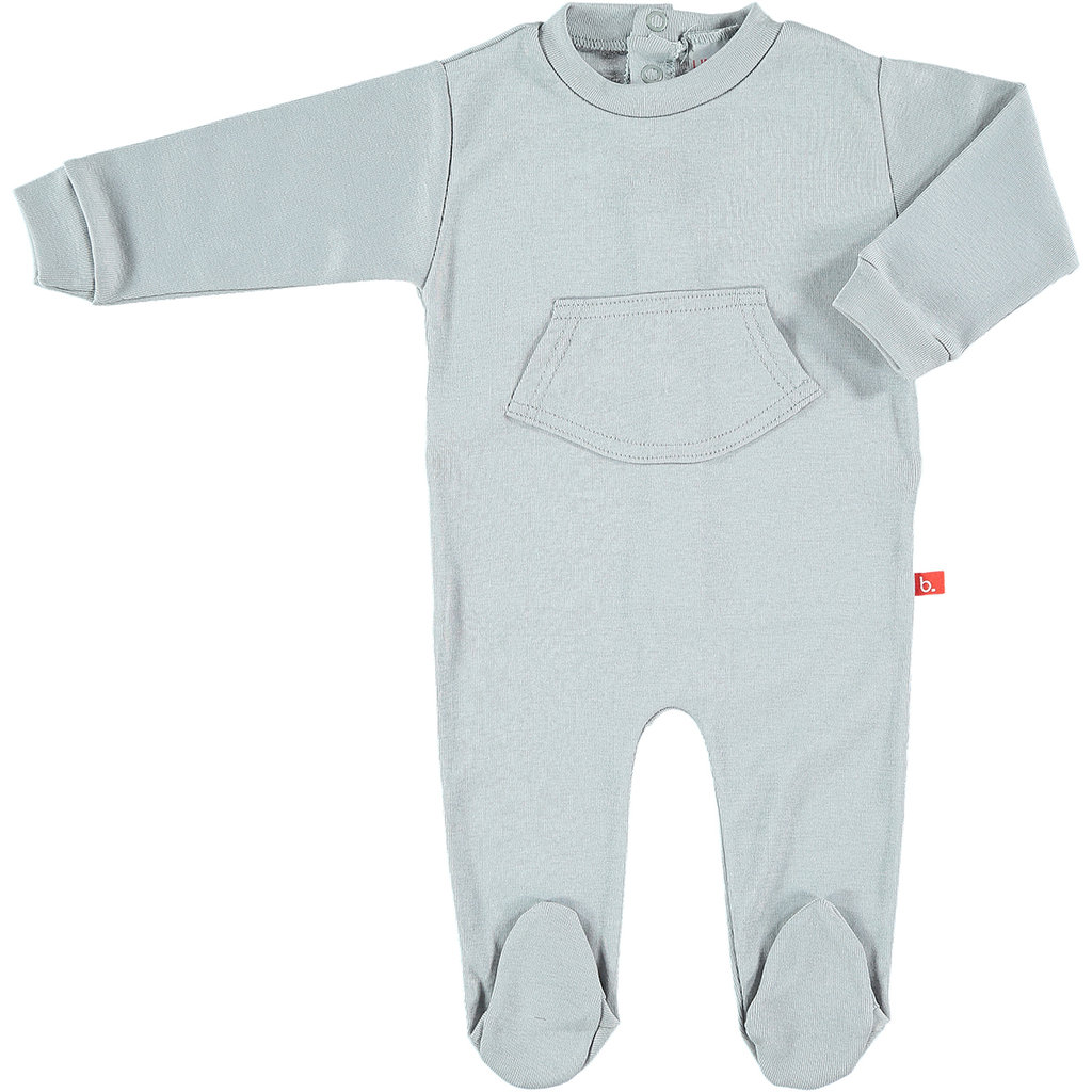 Baby body   pyjama suit organic cotton grey 46 . 551188fa3