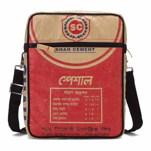 Shoulderbag cementbag red 26x33cm Used2B