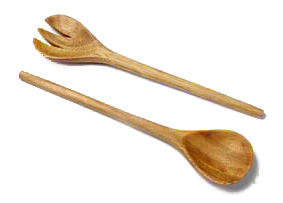 Salad server wood 28 cm