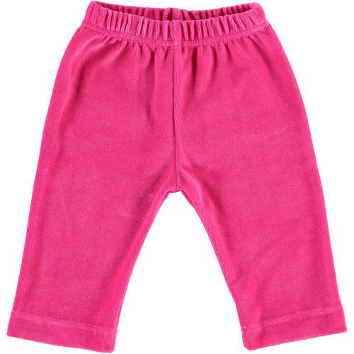 Baby trousers velour fuchsia 74-80