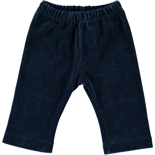 Baby trousers velour dark blue 50-56