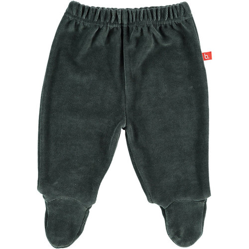 Baby trousers darkgrey with feet velour 50