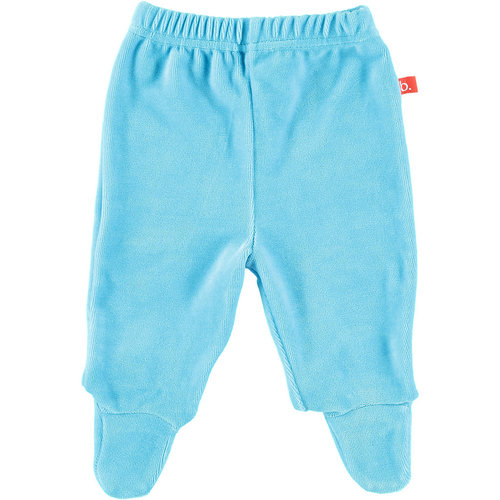 Baby trousers with feet velour aqua 50