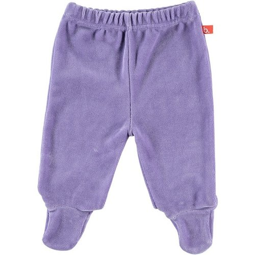 Baby trousers with feet velour lilac 50