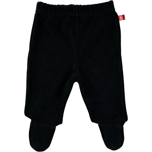 Baby trousers with feet velour black 50