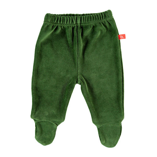 Baby pants velour green 50