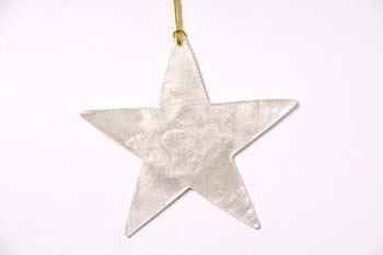 Christmas hanger capiz star natural