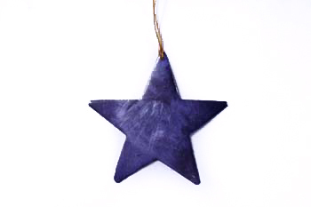 Christmas hanger capiz purple star