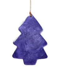 Christmas hanger capiz purple Tree