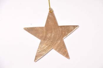 Christmas hanger capiz Star gold