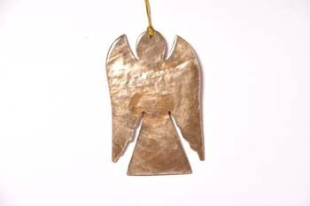 Christmas hanger capiz Angel gold