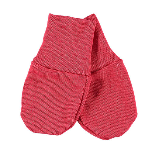 Baby mitts red - no scratch