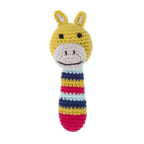 Crochet rattle yellow giraffe