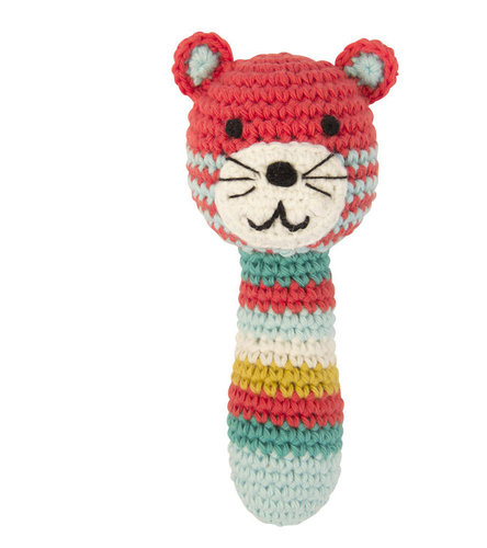 Crochet rattle tiger