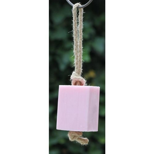 Soap block on a rope 200 gr Pink Roses