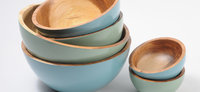 Wooden and bamboo bowls