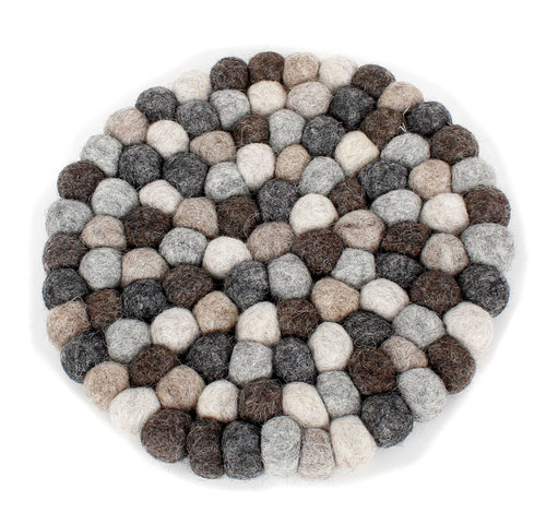 Felt coaster grey 20 cm (set of 2)