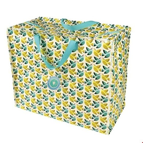 Big storage bag recycled plastic Love Birds 55cm