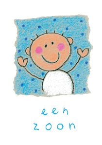 "Wishing card ""Een zoon"""