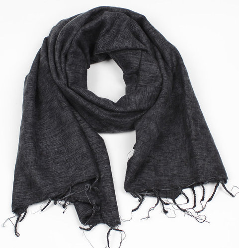 Shawl 180x80 cm (wool-look) darkgrey