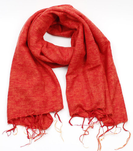 Shawl 180x80 cm (wool-look) orange-red