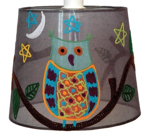 Lamp cover grey owl