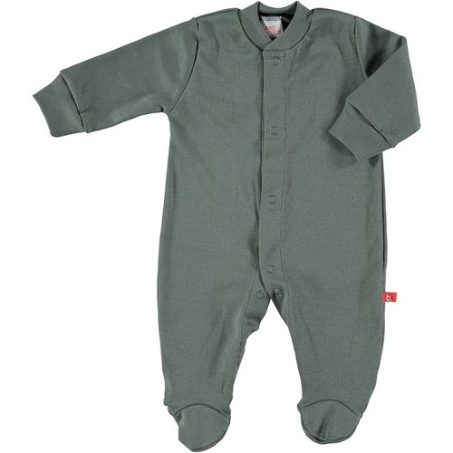 Baby body / pyjama suit with front buttons organic cotton dark grey 62/68