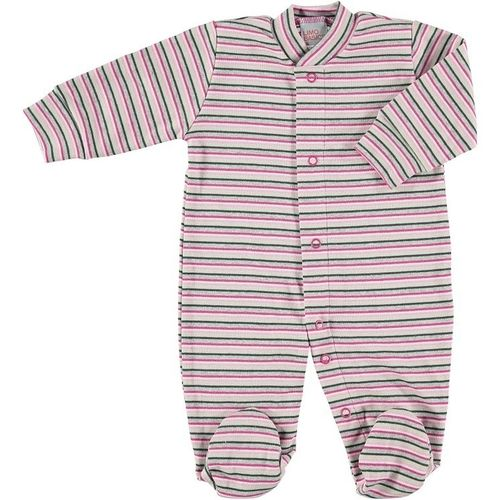 Baby body / pyjama pink striped with front buttons 50/56