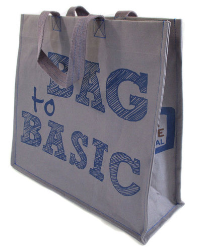 Grey-blue shopper Bag to Basic