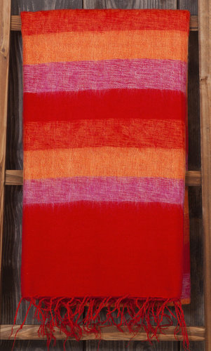 Plaid 240x120 cm (wool-look) red-orange-pink