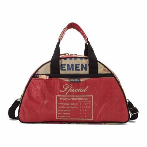 Gym bag Large recycled cementbag red